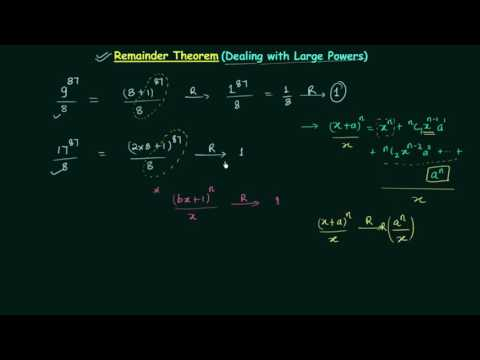 Remainder Theorem (Dealing with Large Powers)