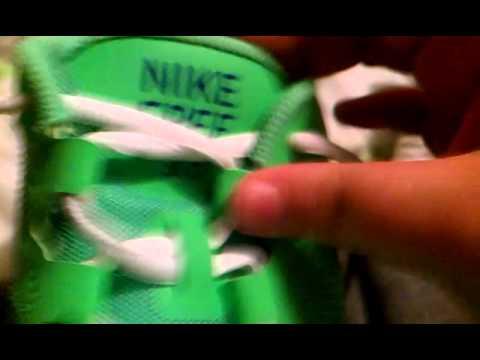 Neon green Nike shoe