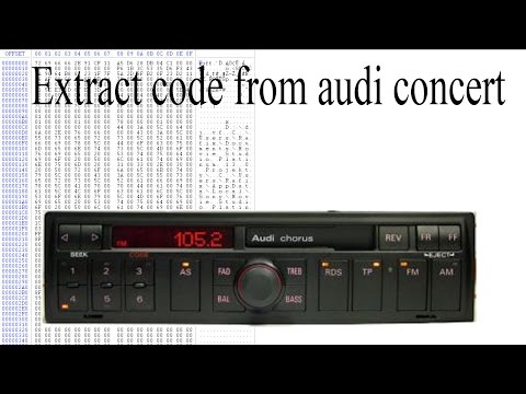 Extract code from audi concert
