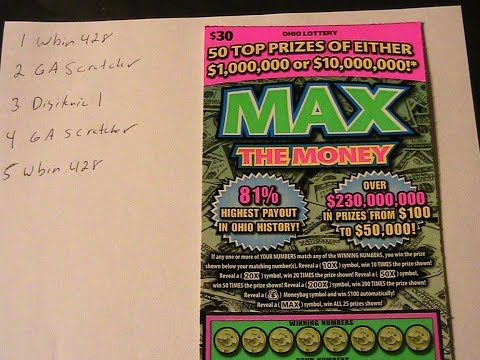 WINNER!!! OHIO LOTTERY GROUP SCRATCH $30 MAX THE MONEY