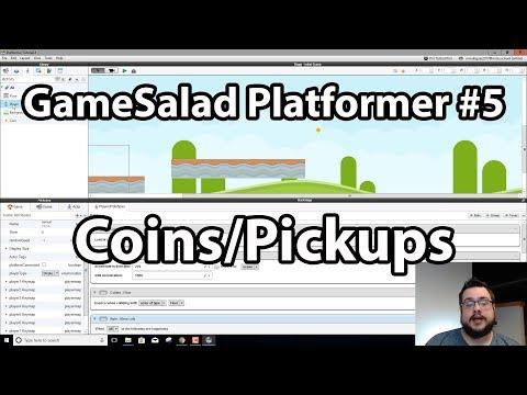 GameSalad Platformer Tutorial #5 - Adding Coins/Pickups