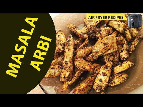 Masala Arbi | Air Fryer Recipe | Colocasia