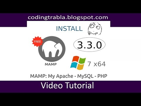 Install MAMP server 3.3.0 ( free version ) on Windows 7 x64 ( Apache - MySQL - PHP )