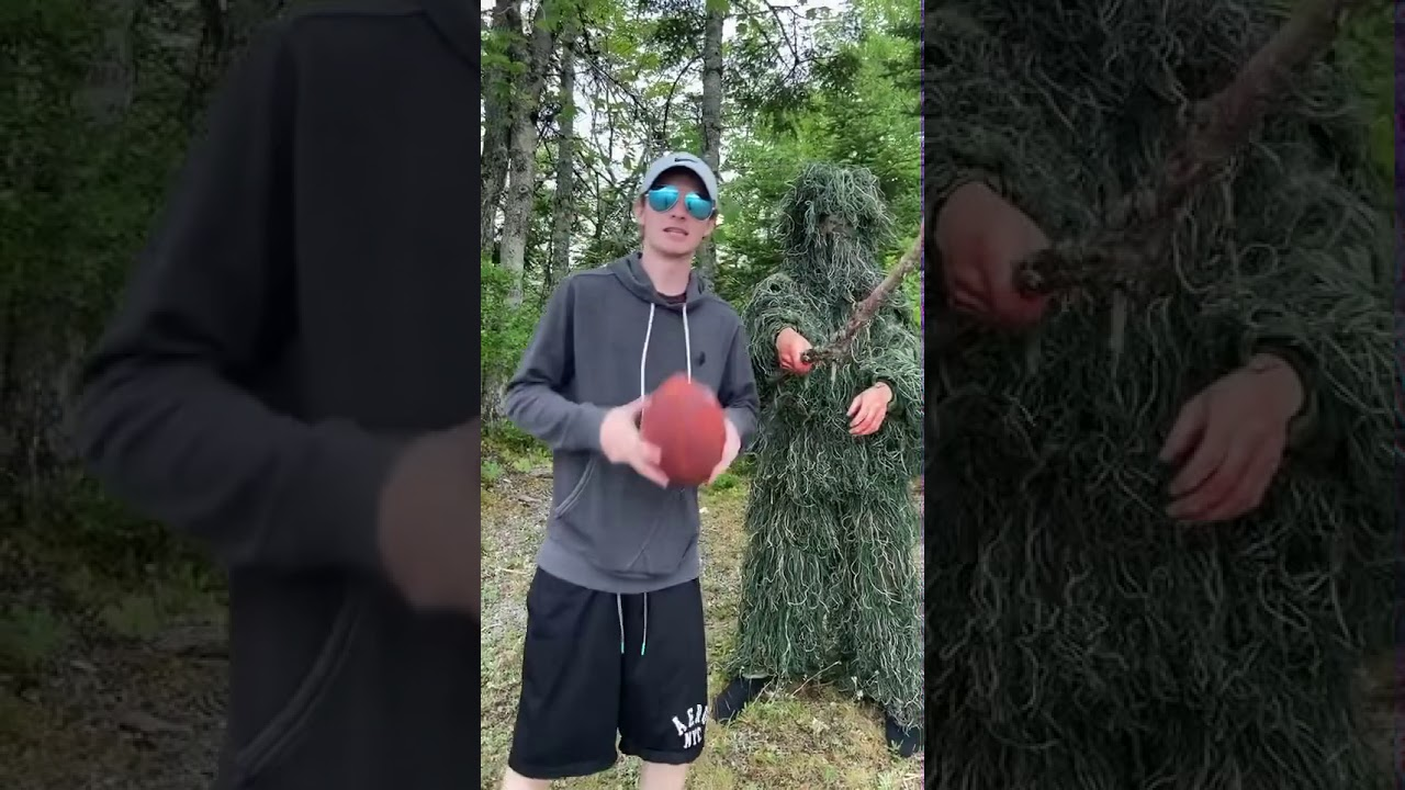 PSYCHO ON THE LOOSE CAMPING PRANK PT 2! #shorts