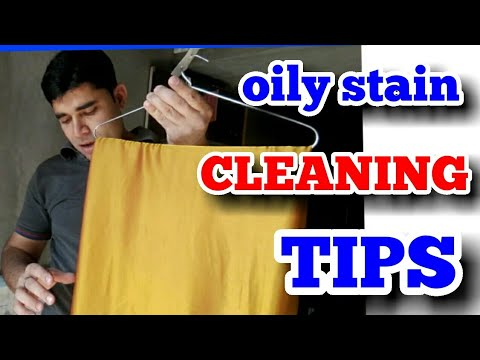 TIPS for oily stain cleaning. ...all colourful Saree remove  oil stain easily ..(hindi ).