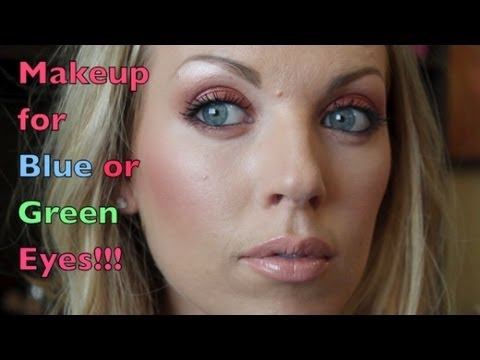 ♡ Makeup for Blue or Green Eyes ♡