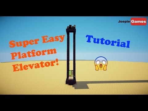 Minecraft 1.11/1.12 Super Easy Platform Elevator tutorial