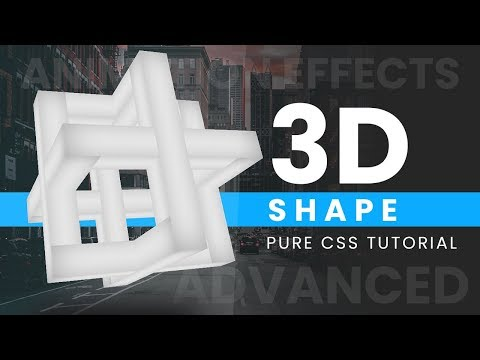 Pure CSS 3D Shape   CSS Animation Effects