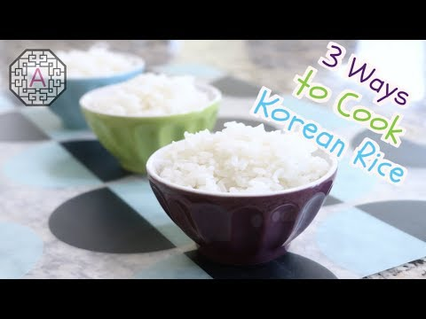 【How To】 3 Ways to Cook Korean Rice