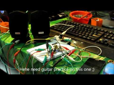 How to make guitar amp circuit dual speaker - DIY 5 / 9 / 12 volt power