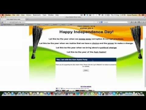 How to make online donation to AAM AADMI PARTY