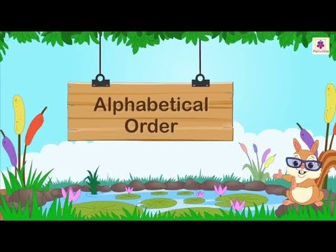 How To Arrange Words In Alphabetical Order | English Grammar | Periwinkle