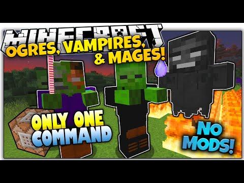 NEW MOBS IN VANILLA MINECRAFT!   NO Mods   Only One Command (Minecraft Vanilla Mod)