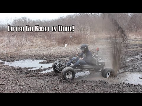 420cc Lifted Go Kart Final Assembly and Rip!