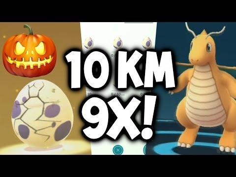 POKEMON GO HALLOWEEN EVENT - DAY 5 VLOG ★ 9X 10 KM EGG HATCHING & DRAGONITE EVOLUTION!