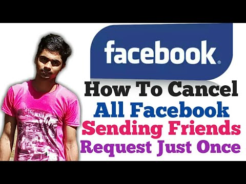 How To Cancel All Sending Friends Request In Just One Click With Android Mobile.