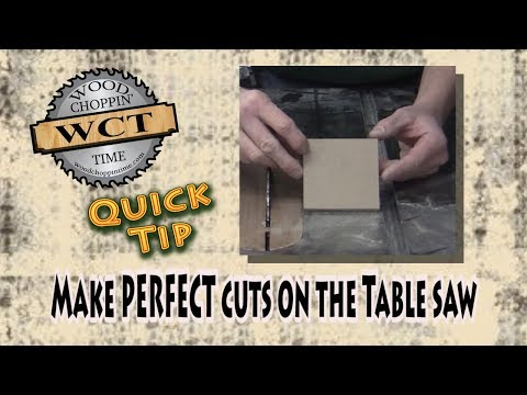 Make PERFECT cuts on the table saw