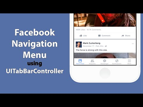 Swift: Create Facebook's Tab Menu system with UITabBarController