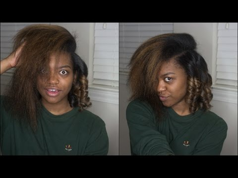 Flat Iron Curls on BlowOut   Natural Hair