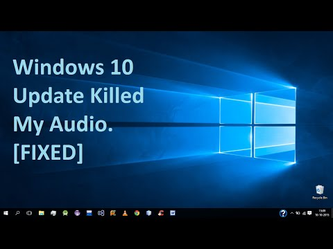 Audio Fix After New Update Windows 10. [100% Works] NO RESET NO RESTART