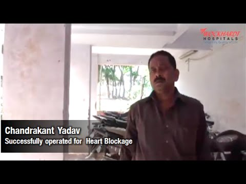 Chandrakant successfully operated for Heart Blockage, Angiography, Wockhardt Hospitals Nashik