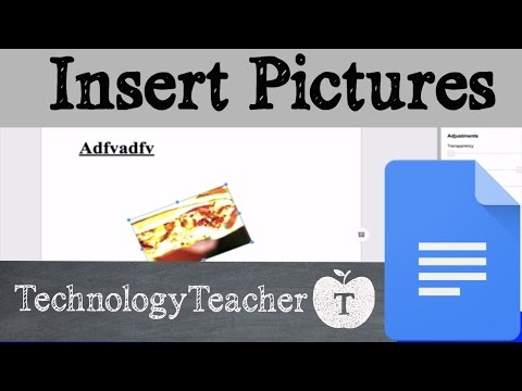 How to Insert Pictures in Google Docs