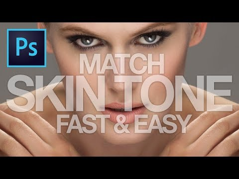 FAST & EASY Technique to EVEN OUT and MATCH SKIN TONE in PHOTOSHOP