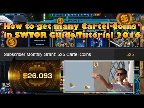 How to get many Cartel Coins in SWTOR [Guide|Tutorial] 2016