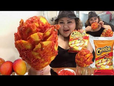 Flamin Hot Cheetos Mango Flower on a Stick DIY/ MUKBANG @Wendy's Eating Show