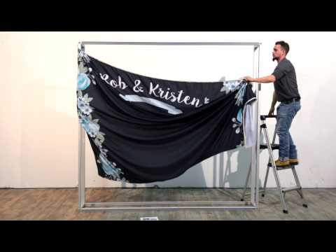 How to Install A Custom Wedding Backdrop by Best Wedding Backdrops
