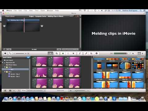 Computer Series   Melding clips in iMovie