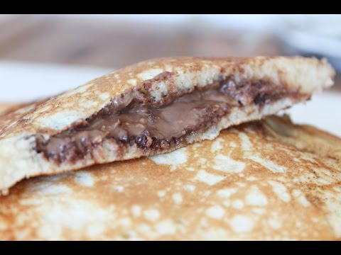 How To Make Nutella And Peanut Butter Stuffed Pancakes - By One Kitchen Episode 223