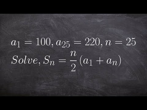 Given two terms find the sum of your arithmetic series