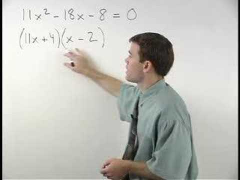Solving Quadratic Equations by Factoring - MathHelp.com