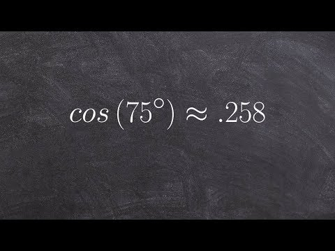 Pre-Calculus - Using the sum formula for cosine to evaluate an angle cos(75)