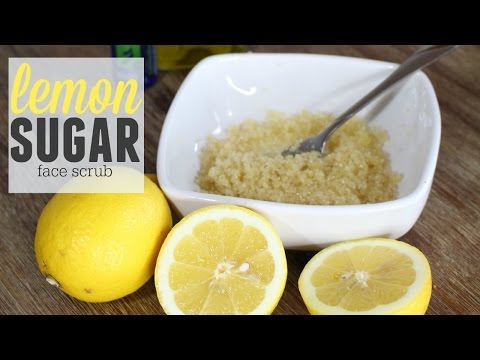 Simple DIY Lemon Face Scrub