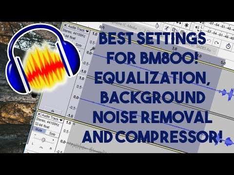 Best Settings for BM800 Microphone! Noise Reduction, Equalization and Compressor!