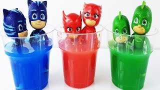 Pj Masks Toys Paint and Wash Learn Colors Pj Masks Buckets Toys for kids