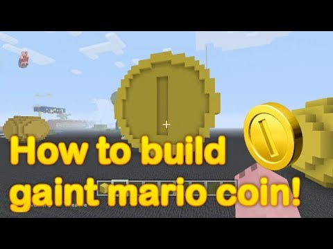 Minecraft - How to make a giant Mario coin!