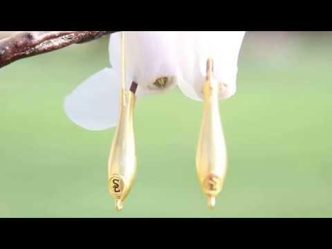 Fleurings Jewelry : Gold Vase Earrings keep flowers fresh! Seen in Bethany Hamilton's Wedding