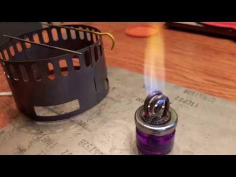 Copper coil jet stove boil test - Fast!