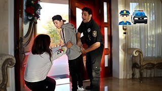 GETTING ARRESTED IN FRONT OF MY MOM PRANK!! (SHE CRIED)
