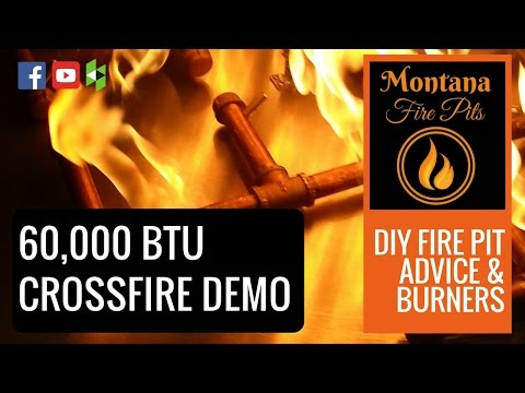 60,000 BTU Warming Trends Crossfire Burner Demo