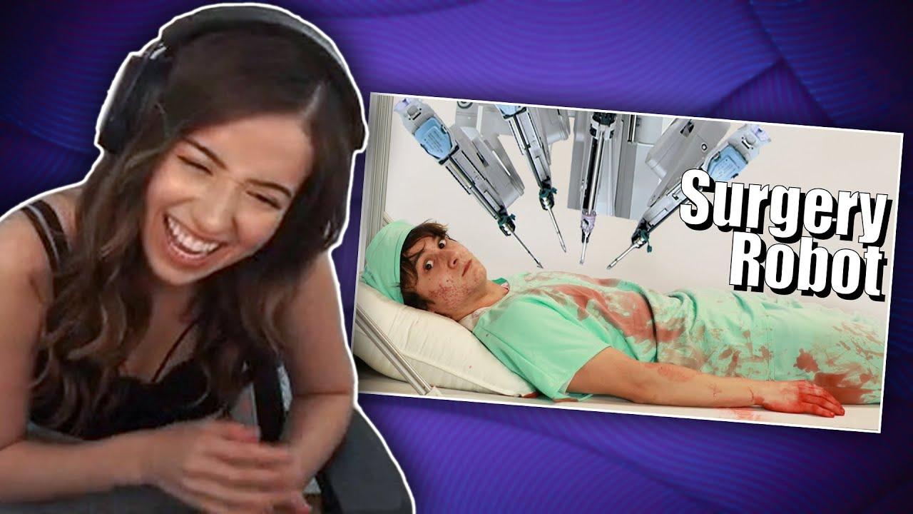 Pokimane reacts to Michael Reeves: I Built A Surgery Robot