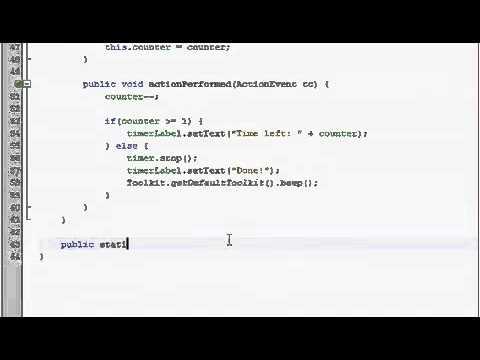 Java GUI Tutorial 30   Timer program Part 2 of 2