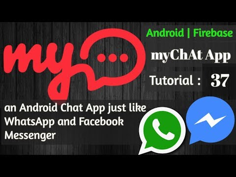 Firebase Push Notification Android Tutorial - 37 - myChat App - Notification With Username