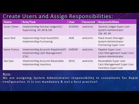 Oracle EBS Implementation: Project Team, Roles and Responsibilities