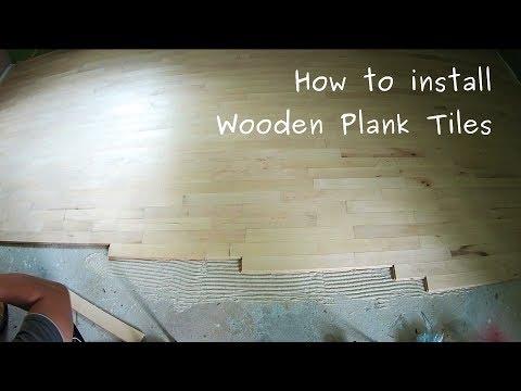 How to install wooden plank tiles (hardwood floor)