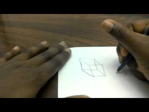 how to draw 3D objects on paper.