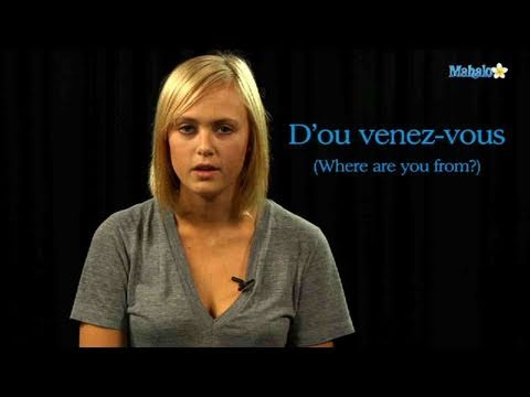 How to Ask 'Where Are You From?' in French